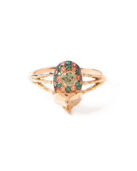Daniela Villegas | Metallic Pink Gold Beetle Ring | Lyst
