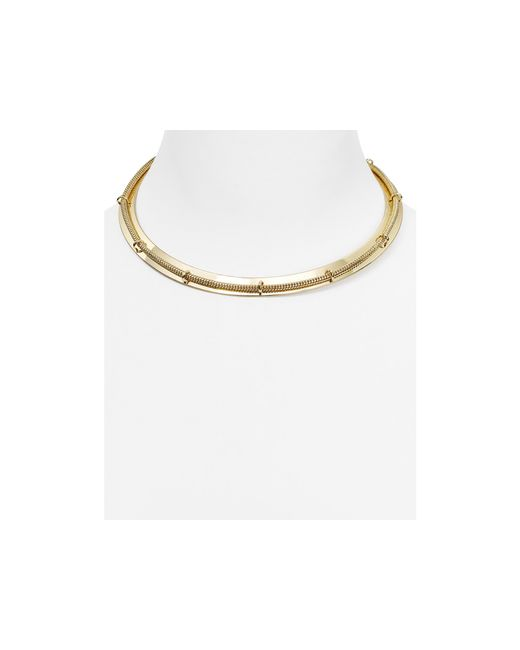 Aqua | Metallic Roxanne Collar Necklace | Lyst