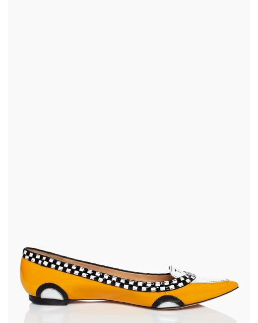 Kate Spade | Yellow Go Taxi Flats | Lyst