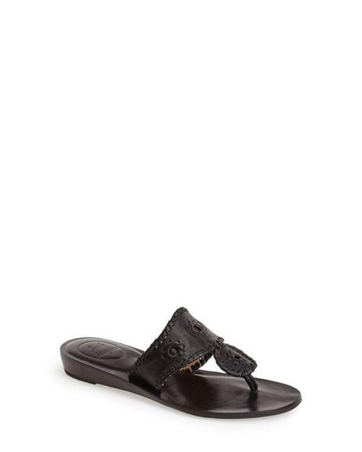 Jack Rogers | Black 'capri' Thong Sandal | Lyst