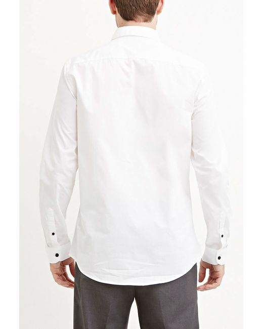 Forever 21 | White Cotton-blend Pocket Shirt for Men | Lyst