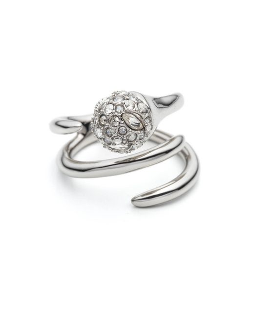 Alexis Bittar   Metallic Encrusted Sphere Coiled Cocktail Ring You Might Also Like   Lyst