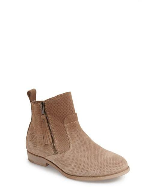tamaris cigara perforated suede boots in brown beige