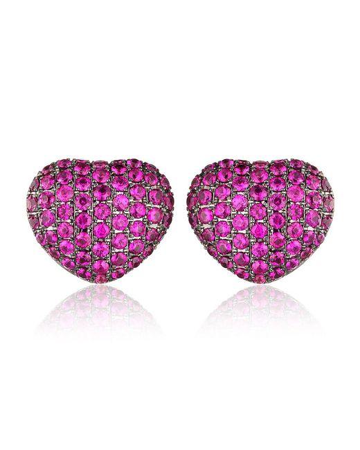Theo Fennell | Purple Ruby 'art Earrings | Lyst