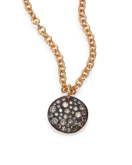Pomellato | Pink Sabbia Brown Diamond & 18k Rose Gold Pendant | Lyst