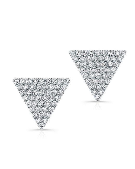 Anne Sisteron - Metallic 14kt White Gold Diamond Large Triangle Olivia Stud Earrings - Lyst