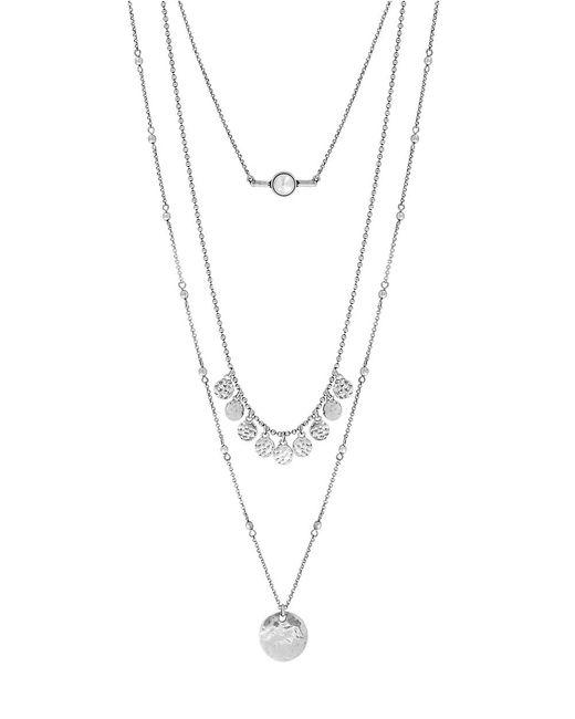 Lucky Brand   Metallic Three-chain Necklace   Lyst
