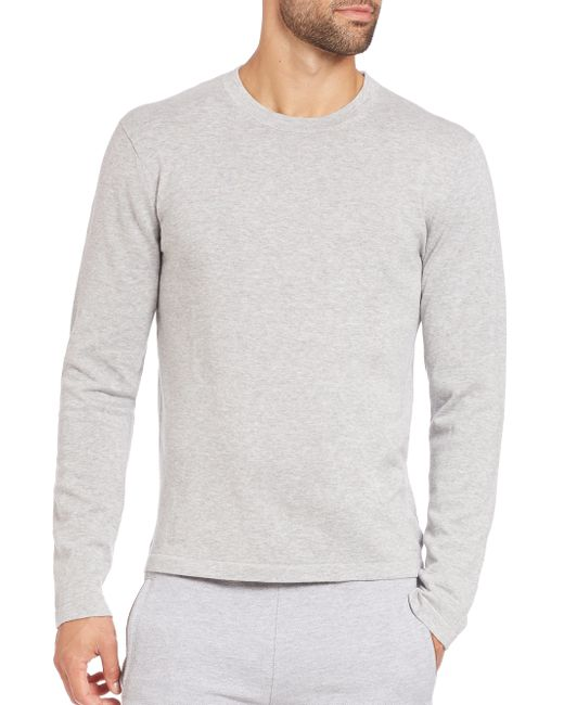 Michael Kors | Gray Compact Cotton Long-sleeve Tee for Men | Lyst