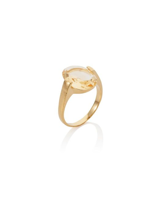 Caroline Creba | Yellow 18ct Gold Plated Sterling Silver 4.50ct Citrine | Lyst