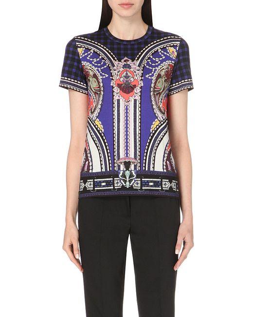 Mary Katrantzou | Blue Printed Jersey T-shirt | Lyst