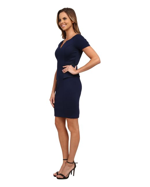 NYDJ | Blue Bridget Peplum Dress | Lyst
