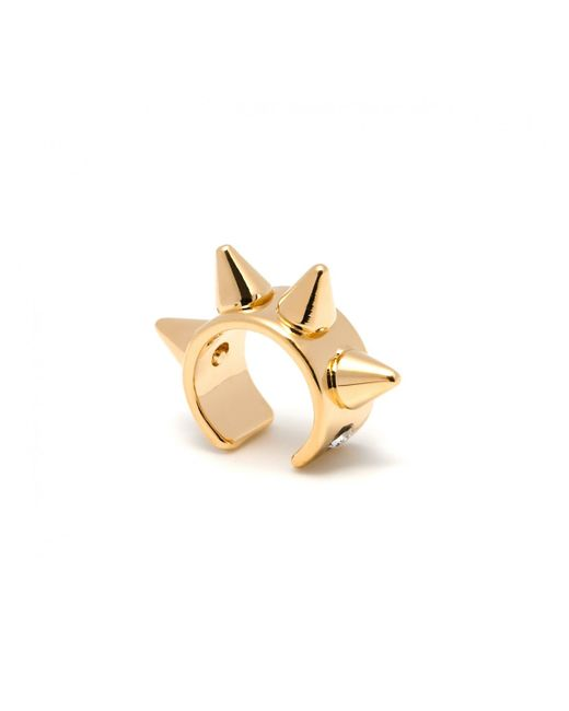 Maria Francesca Pepe | Metallic Thin Spike Ear Cuff Gold | Lyst