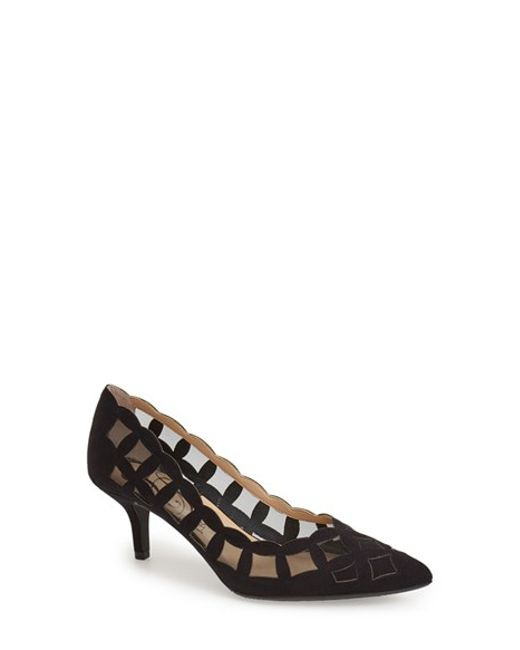 J. Reneé | Black 'winda' Pointy Toe Pump | Lyst