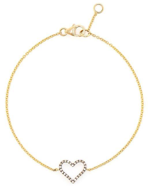 Rosa De La Cruz   Black Micro Diamond Heart Bracelet   Lyst