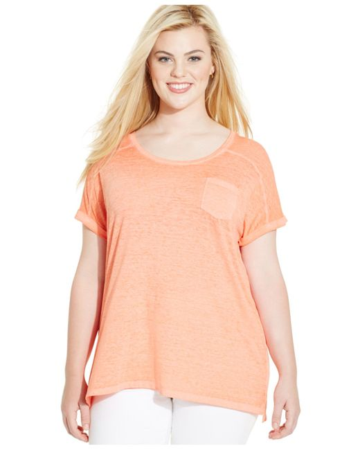 Style & Co. | Pink Plus Size Pocket T-shirt | Lyst