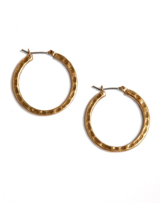 Lucky Brand | Metallic Small Round Hoop Earrings | Lyst