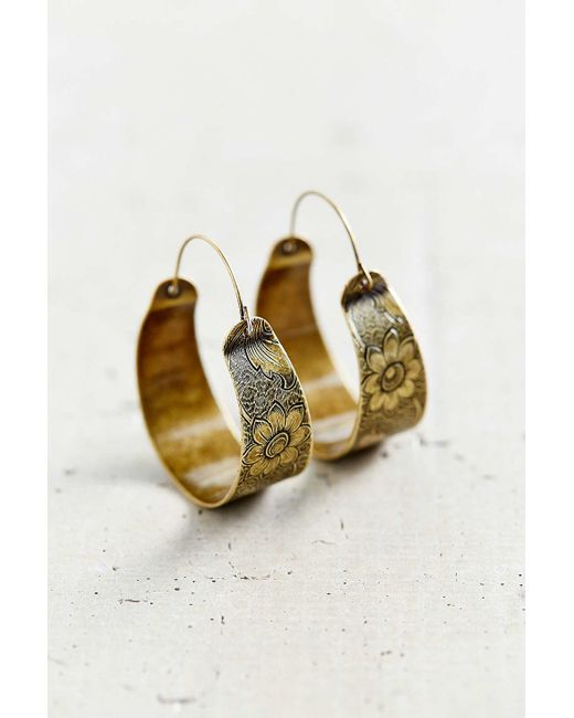 Urban Outfitters Escape Hoop Earring In Gold