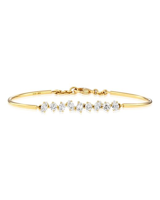 Kimberly Mcdonald | Metallic 18k Gold Mixed Diamond Bar Wire Bracelet | Lyst