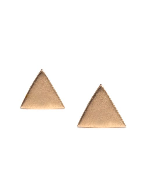 Melissa Joy Manning | Metallic Triangle Post Earring | Lyst