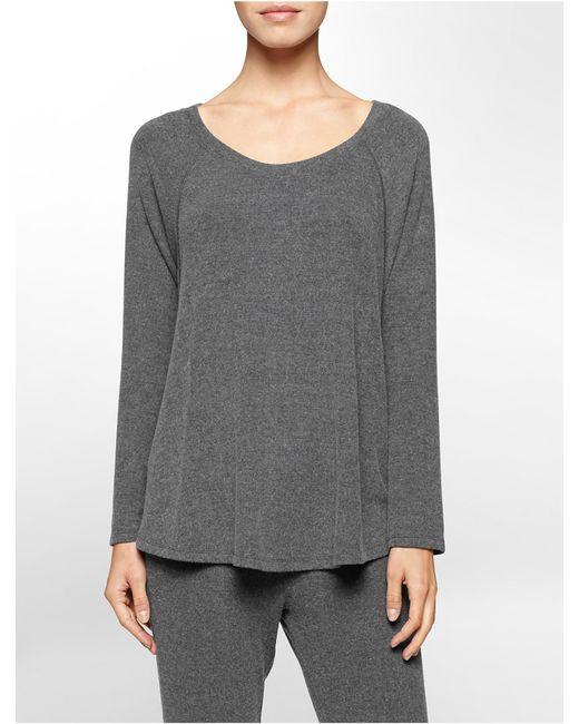 Calvin Klein | Gray Performance Jersey Top | Lyst