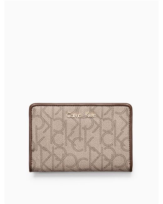 CALVIN KLEIN 205W39NYC - Natural Monogram French Clutch - Lyst