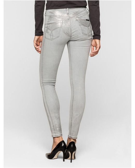 Calvin Klein Jeans Sculpted Light Grey Skinny Ankle Jeans