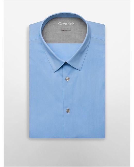 Calvin Klein   Blue X Fit Ultra Slim Fit Solid Dress Shirt for Men   Lyst