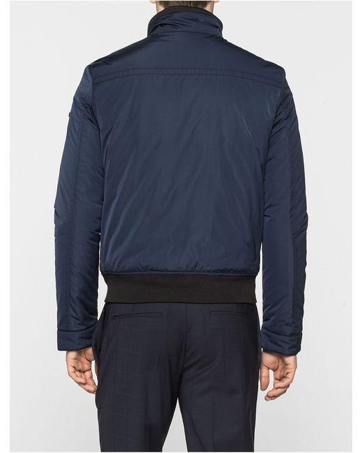 Calvin Klein Orla Bomber Jacket In Blue For Men Lyst
