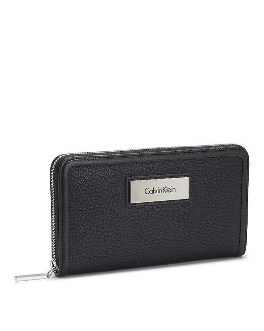 Calvin Klein | Black Valerie Zip Continental Wallet | Lyst