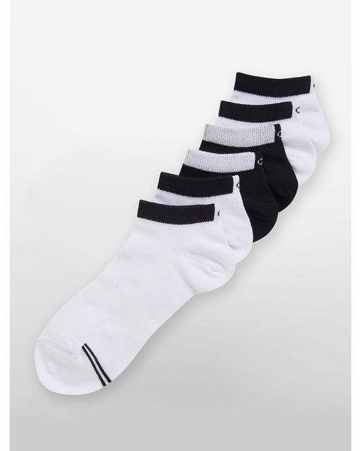 Calvin Klein | Black Underwear 6 Pack Logo Low Rise Socks | Lyst