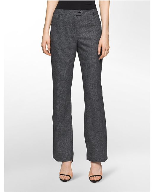 Calvin Klein | Black Micro Birds-eye Modern Pants | Lyst