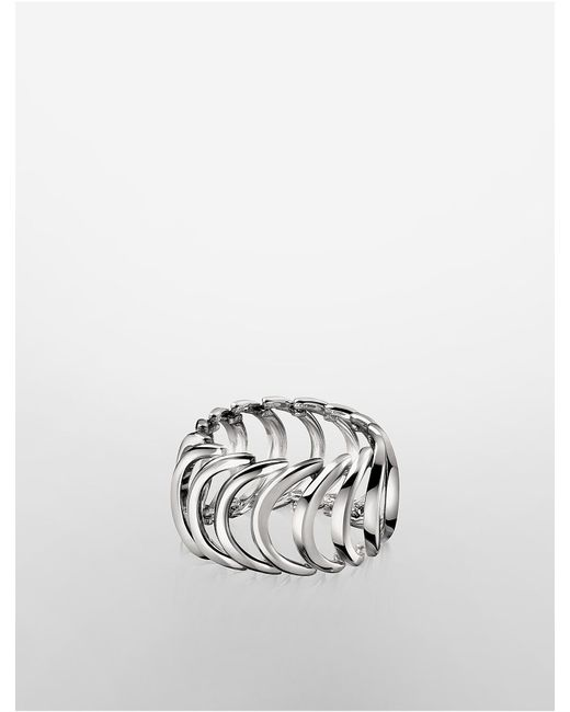 Calvin Klein | Metallic Platinum Body Ring | Lyst