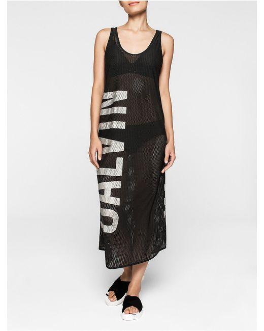 Calvin Klein   Black Intense Power Mesh Dress   Lyst
