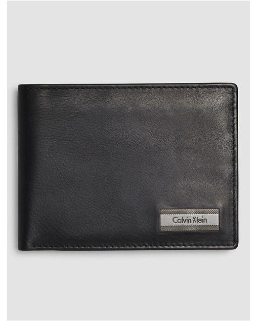 Calvin Klein | Black Jeans Coblane Passcase Coin Wallet for Men | Lyst