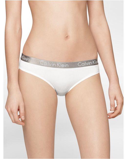 Calvin Klein   White Underwear Logo Cotton Stretch Bikini   Lyst