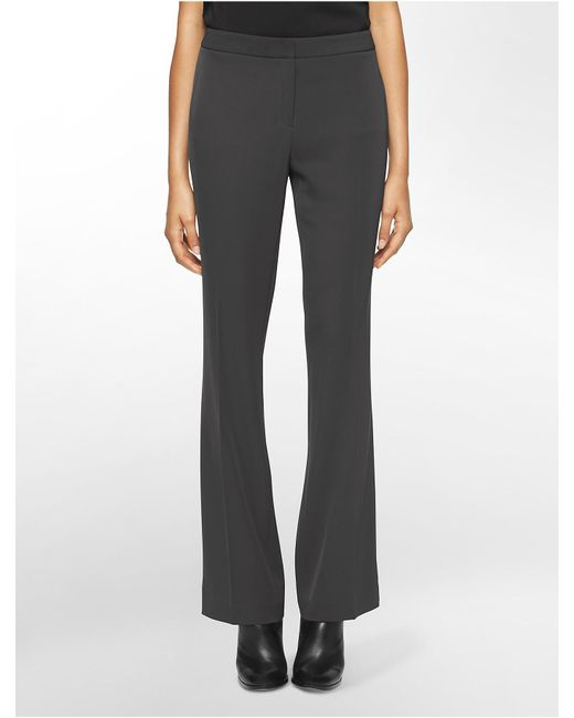 CALVIN KLEIN 205W39NYC - Gray Straight Fit Soft Wide Leg Pants - Lyst