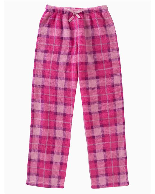 Calvin Klein - Pink Girls Plush Plaid Pants - Lyst
