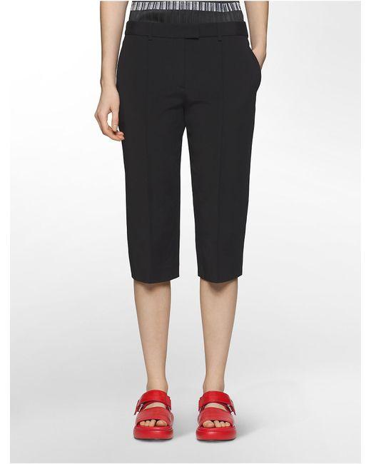 Calvin Klein | Black Platinum Platinum Stretch Skinny Capri Pants | Lyst