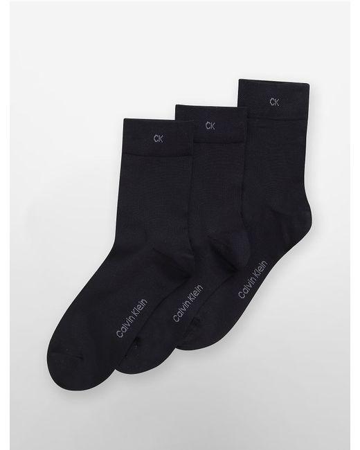Calvin Klein - Black Underwear 3 Pack Lightweight Socks - Lyst