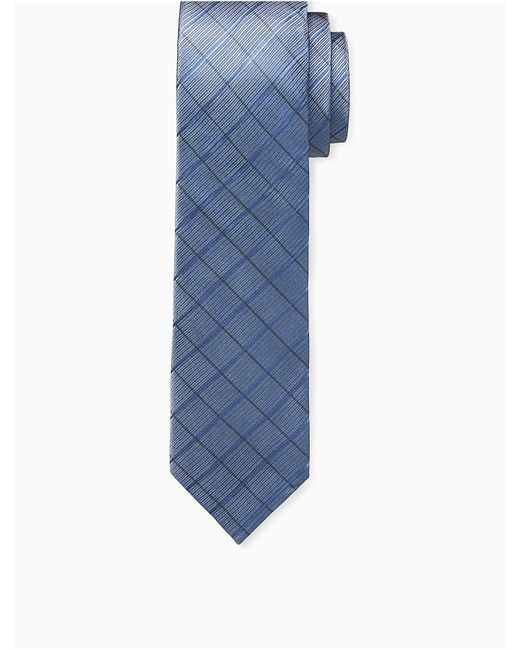 Calvin Klein   Blue Steel High Rise Grid Tie for Men   Lyst