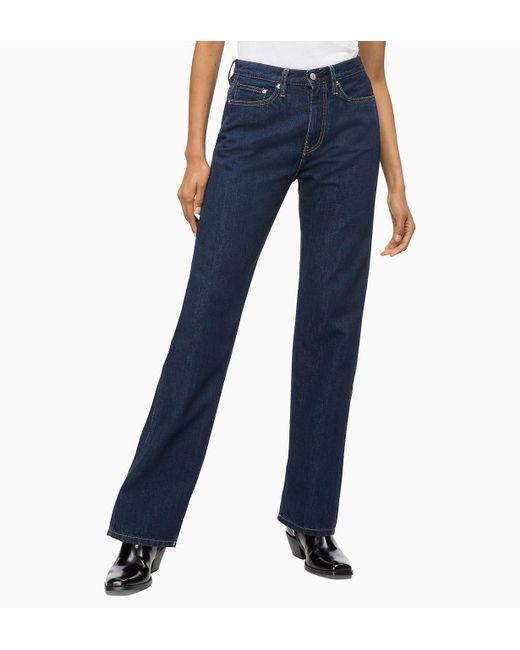 Calvin Klein - Blue Ckj 030 High Rise Straight Jeans - Lyst ... 9301bb7b66