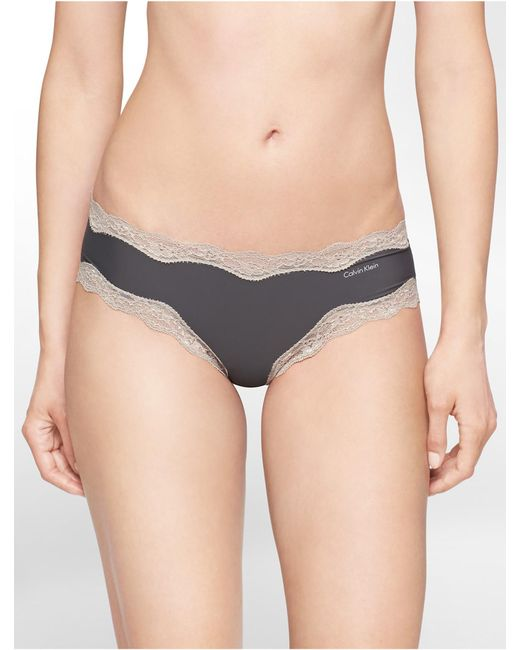 CALVIN KLEIN 205W39NYC - Gray Underwear Cheeky Hipster With Lace - Lyst