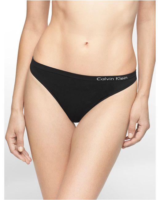 CALVIN KLEIN 205W39NYC - Black Underwear Pure Seamless Thong - Lyst