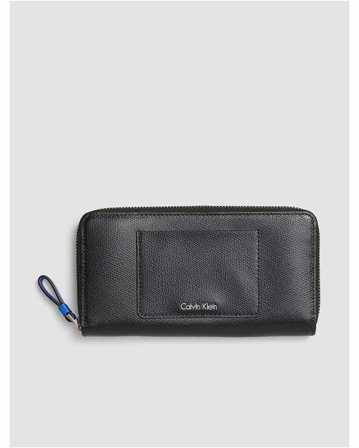 Calvin Klein | Black Jeans Julienne Leather Large Zip Wallet | Lyst