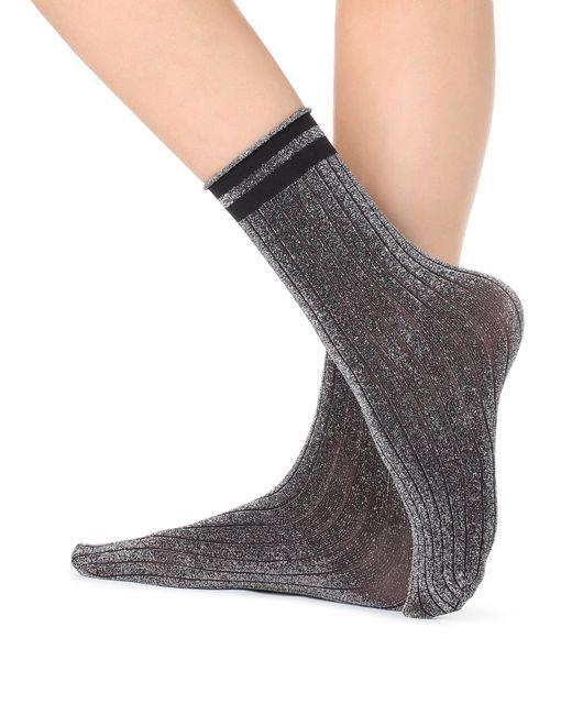 Calzedonia - Black Fancy Glitter Socks - Lyst