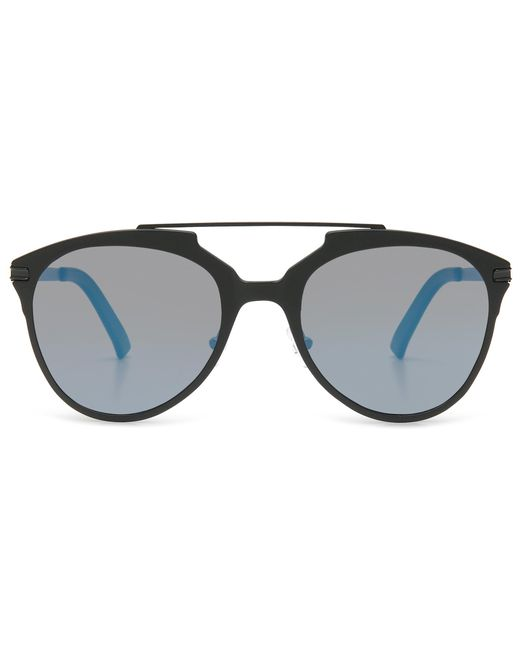 Canali - Matte Black Ultralight Sunglasses With Rounded Polarized Gray Lenses for Men - Lyst
