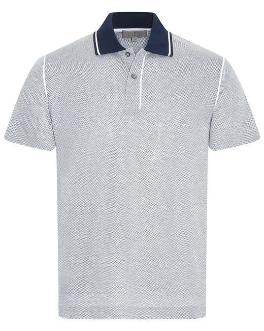 Canali - Multicolor Cotton Polo Shirt With Contrasting Collar And Micro-motif for Men - Lyst