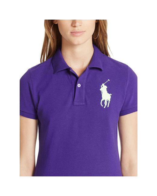 Polo Ralph Lauren   White Skinny-fit Big Pony Polo Shirt   Lyst