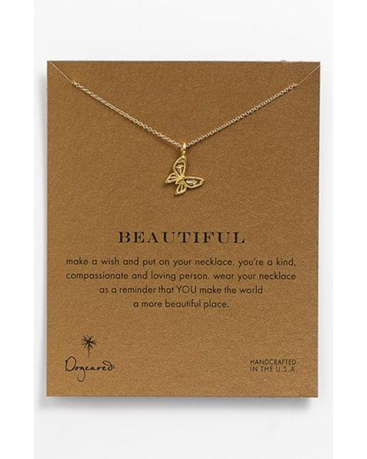 Dogeared | Metallic 'reminder - Beautiful' Pendant Necklace | Lyst