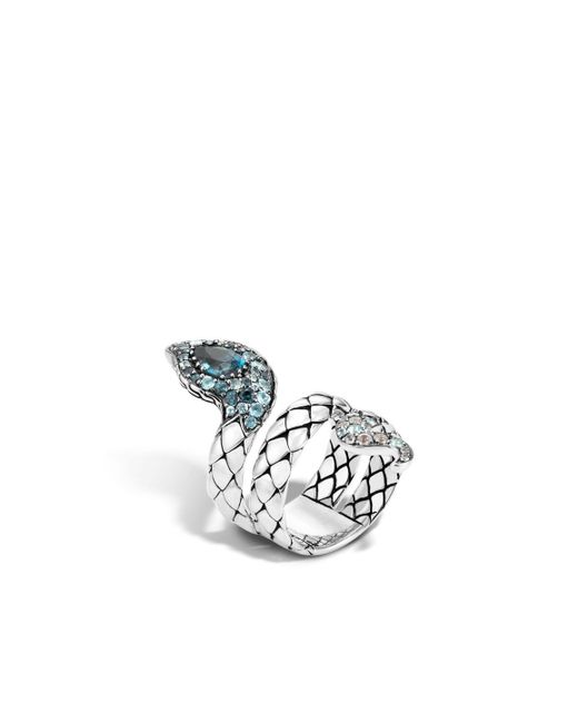 John Hardy   Cobra Coil Ring With London Blue Topaz And Diamonds   Lyst